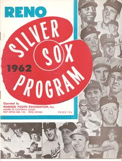 1962 Reno Silver Sox Program