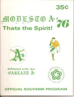 1976 Modesto As Program