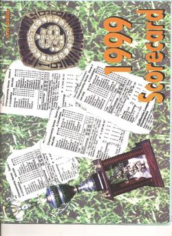 1999 San Jose Giants Scorecard