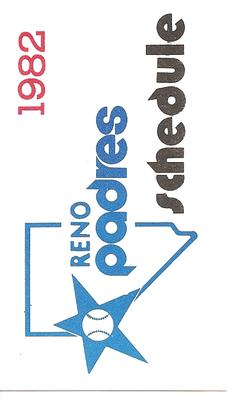 1982 Reno Padres Schedule