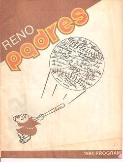 1984 Reno Padres Program