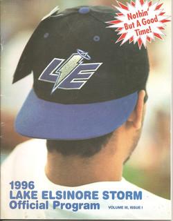 1996 Lake Elsinore Storm Program