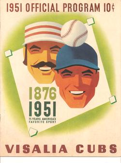 1951 Visalia Cubs Program
