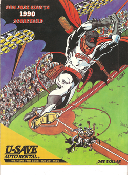 1990 San Jose Giants Scorecard