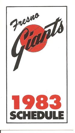 1983 Fresno Giants Schedule