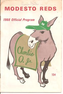 1966 Modesto Reds Program