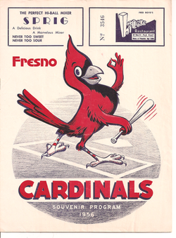 1956 Fresno Cardinals Program