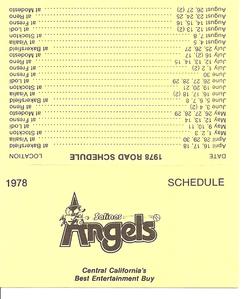 1978 Salinas Angels Schedule