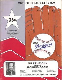 1976 Lodi Dodgers Program