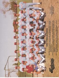 1984 Visalia Oaks Team Photo