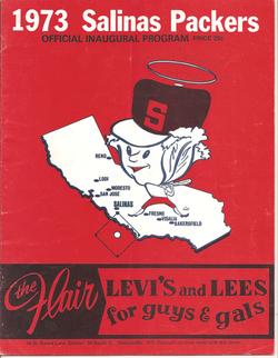 1973 Salinas Packers Program