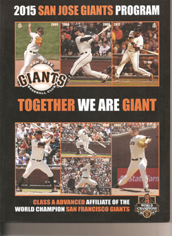 2015 San Jose Giants Program