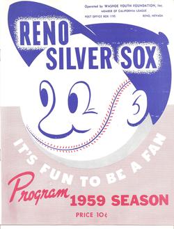 1959 Reno Silver Sox Program