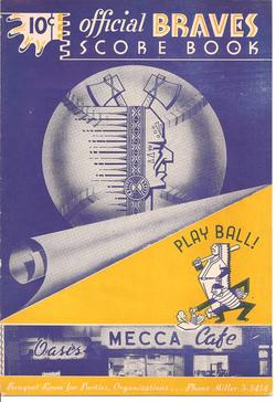 1952 Ventura County Braves Scorebook