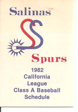 1982 Salinas Spurs Schedule