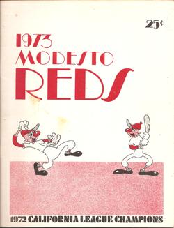 1973 Modesto Reds Program