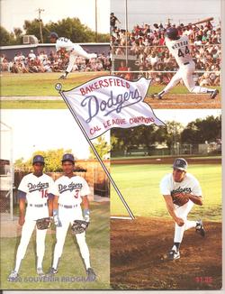 1990 Bakersfield Dodgers Program