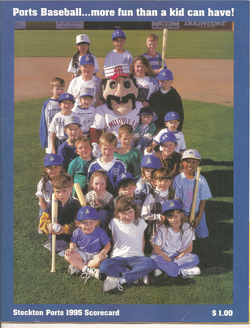 1995 Stockton Ports Scorecard