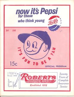1962 Bakersfield Bears Program