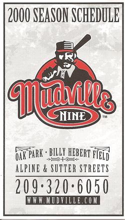 2000 Mudville Nine Schedule