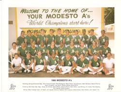 1985 Modesto As Team Photo