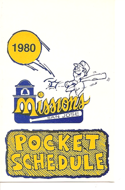 1980 San Jose Missions Schedule
