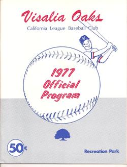 1977 Visalia Oaks Program