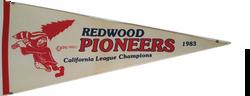 Redwood Pioneers Pennant