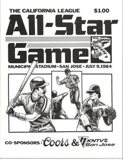 1984 Cal League All-Star Program