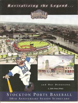 1999 Stockton Ports Scorecard
