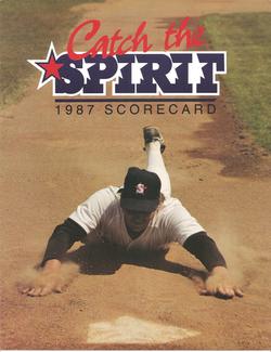 1987 San Bernardino Spirit Scorecard