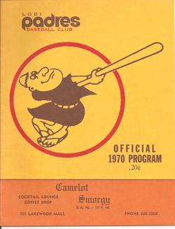 1970 Lodi Padres Program