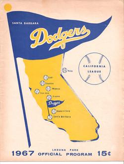 1967 Santa Barbara Dodgers Program