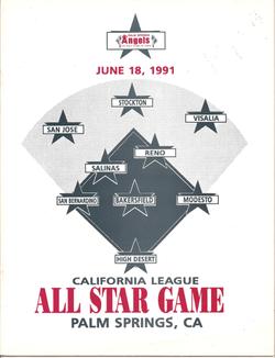 1991 Cal League All-Star Program
