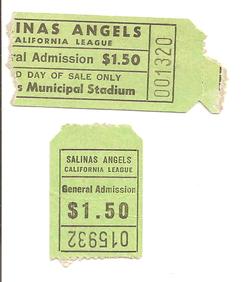 Salinas Angels Ticket Stubs