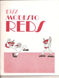 1972 Modesto Reds Program