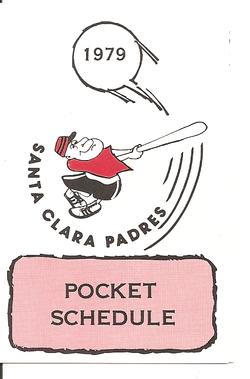 1979 Santa Clara Padres Schedule