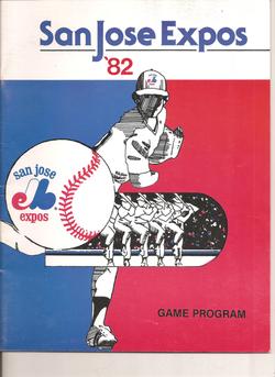1982 San Jose Expos Program