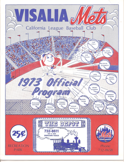 1973 Visalia Mets Program