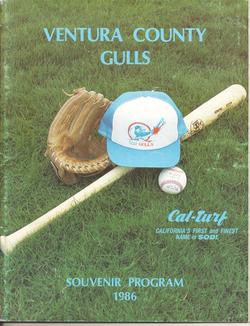 1986 Ventura County Gulls Program