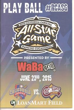 2015 Cal League All-Star Program
