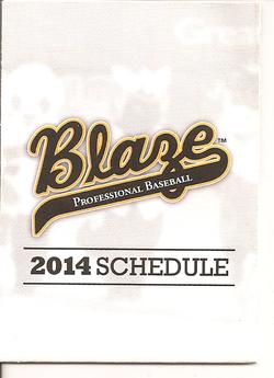 2014 Bakersfield Blaze Schedule