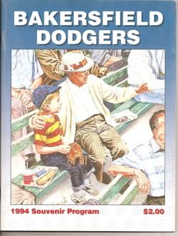 1994 Bakersfield Dodgers Program