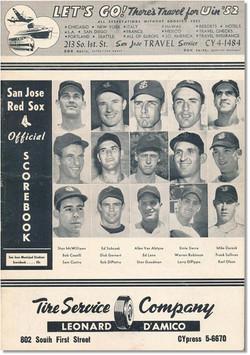 1952 San Jose Red Sox Program