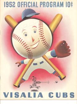 1952 Visalia Cubs Program