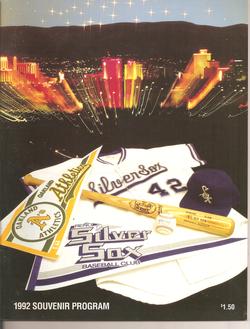 1992 Reno Silver Sox Program