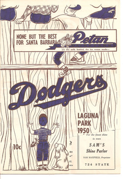1950 Santa Barbara Dodgers Program