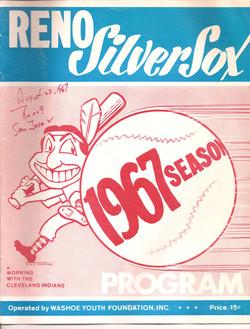 1967 Reno Silver Sox Program
