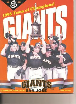 1999 San Jose Giants Program