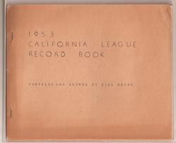 1953 California League Record Book